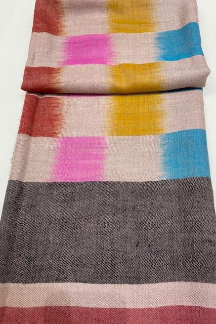 Piluca -Osaba-Ikat-Hand spun-Ikat-Cashmere shawl