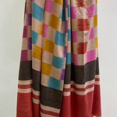 Piluca-Osaba hand-spun Ikat cashmere shawl