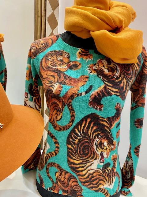 Piluca-Osaba- cashmere- Tiger- Sweater