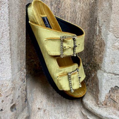 Piluca-Osaba - velvet-Crystal -Slides  sandals