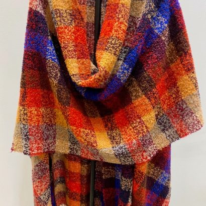 PO Merino Wool checks Wrap