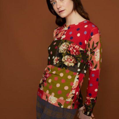 Sweater-Lunares -Flores